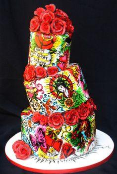 Tattoo inspired cake =)
