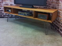 Mid century modern TV table/entertainment console. by scottcassin