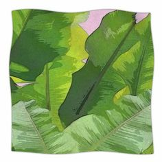 "East Urban Home Oriana Cordero Banana Tropics Fleece Throw Size: 50"" W x 60"" L"