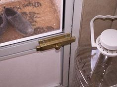 RV Door latch. REVIEW: spent a few dollars on this to have extra locking so the dogs cant open the door