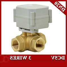 36.06$  Watch now - http://alita1.worldwells.pw/go.php?t=32788072222 - 3/4'' motorized ball valve 3 wires, 3 way horizontal type electric valve DC5V  for brewing system 36.06$