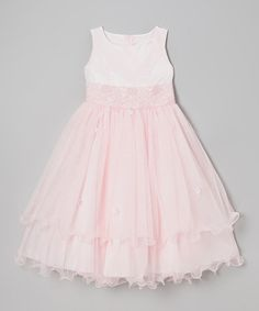 Love this Pink Lace Tiered Dress - Infant, Toddler & Girls by Kid's Dream on #zulily! #zulilyfinds