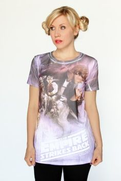 Empire Strikes Back Sublimated tee - By Her Universe, available at HotTopic.com on May 4th. Love it!