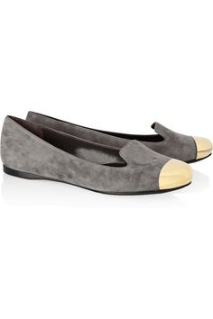 Yves Saint Laurent Evalyn suede and metal loafers