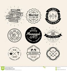 Vintage Retro Wedding Logo Frame Badge Design Element - Download From Over 36 Million High Quality Stock Photos, Images, Vectors. Sign up for FREE today. Image: 52687139