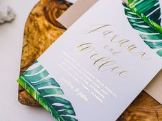 3 - Loving this. Always love the banana leaf, greens and especially gold.