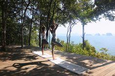 The View from yoga platform, Six Senses Spa Yao Noi, Thailand http://www.sixsenses.com/resorts/yao-noi/spa