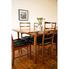 Now sold, can be seen in our archive http://www.johnnymoustache.com/archive-1/teak-dining-table-and-six-chairs.html Teak dining table and six chairs | Johnny Moustache | Vintage And Contemporary Furniture & Homewares