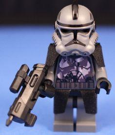 Lego® Star Wars™ Custom Gray Camouflage Elite Clone Commando DC 17M Blaster   eBay Lego Clones, Lego Minifigs, Custom Lego, Clone Trooper, Building Toys, Lego Star, Legos, Camouflage, Hobbies