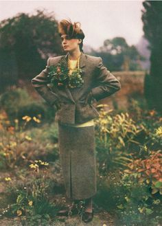 Photographed by Bruce Weber and styled by Grace Coddington, Vogue UK 1984. The model is Victoria Lockwood, who became Earl Spencer's first wife.