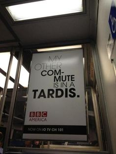 Doctor Who + BBC America ad on the train in New York.