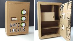 How to Make SAFE LOCKER from Cardboard at Home with 3 Safety Locks - YouTube Cardboard Box Crafts, Cardboard Furniture, Cardboard Crafts, Cardboard Playhouse, Playhouse Furniture, Escape Room Design, Escape Room Diy, Crafts To Make And Sell, Diy Arts And Crafts