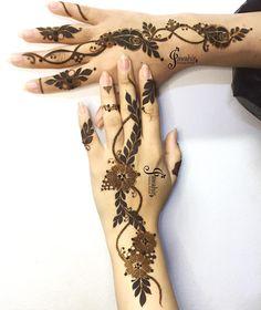 Image may contain: closeup Cute Henna Designs, Indian Henna Designs, Latest Henna Designs, Henna Tattoo Designs Simple, Finger Henna Designs, Mehndi Designs Book, Modern Mehndi Designs, Mehndi Designs For Girls, Mehndi Designs For Fingers
