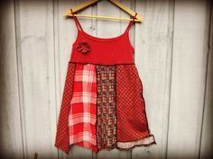Babydoll Festival Tank Top Tunic // Large// Upcycled by emmevielle, $59.00
