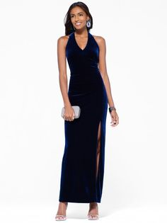 Black Beaded Back Gown  I Loved my job @ Cache ...