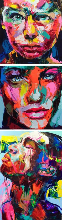 Palette knife paintings by Francoise Nielly // emotional art // abstract painting // abstract art