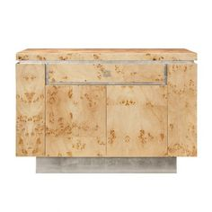 THE WELL APPOINTED HOUSE - Luxury Home Decor- Worlds Away Shiloh Burl Wood Bar Cabinet with Silver Leaf Accents