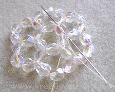 MATERIALE: sfaccettate 6 mm biconi 4 mm rocailles 11/0 filo ago Schema Fonte: http://www...