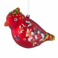 Weihnachtshänger Kardinal mit Schmetterlingen | desiary.de - identity store