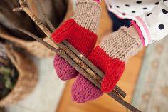 Ravelry: Colorblock Mittens pattern by Meg Roke