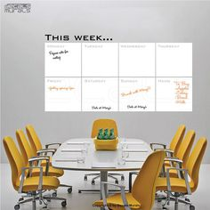 Dry erase THIS WEEK Writable erasable wall decals - Removable interior decor by Decals Murals (28x51)  $69.00 USD
