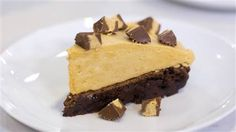 Dessert doesn't get more decadent than this brownie bottom peanut butter pie