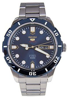 Seiko 5 Sports Automatic Blue Dial Stainless Steel 100M Mens Watch SRP677