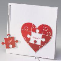 """Hochzeitskarte""""Puzzle"""""""