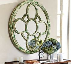 Windowpane Mirror #pottery barn...I bet this could be DIY-ed somehow, Luv the mirror.