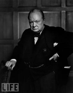 Winston Churchill: photo by Yousuf Karsh, 1941