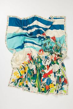 Paint-By-Numbers Scarf #anthropologie  Retro chic flawless