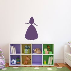 Princess Wall Decal - Girl Bedroom Wall Sticker - Children Wall Decals - Medium #GirlsBedroom