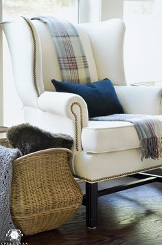 wing-back-chair-with-draped-scarf-for-fall