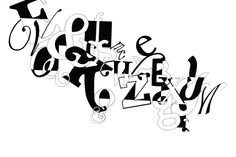 Abstract typography