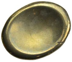 """A carved and polished worry stone made from Pyrite. Sizes may vary from the average of 1 1/4"""" x 1"""" x 3/8"""""""