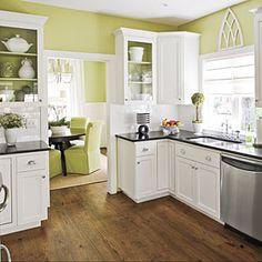 Me gusta esta combinación de colores para la cocina