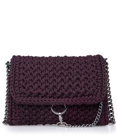 Burgundy Obsession Link Crochet Bag