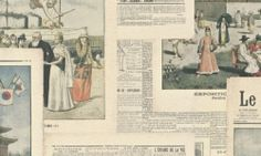 Crispy Paper French Old Style Newspaper Wallpaper Paste the Wall Vinyl 526509 Normal Wallpaper, Live Wallpaper Iphone, Vinyl Wallpaper, Felix Faure, Newspaper Wallpaper, Newspaper Pictures, Typography Wallpaper, Floral Pattern Wallpaper, French Typography