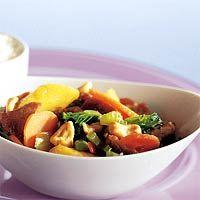 Recept - Wokschotel met perzik en rijst - Allerhande