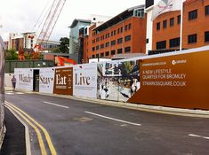 St Mark's Square hoardings designed by Realise Creative