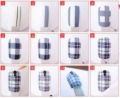 Buriti~yushu fingertip Do you like us?  Tartan check of the image of anticipating ♡ the fall in the nail