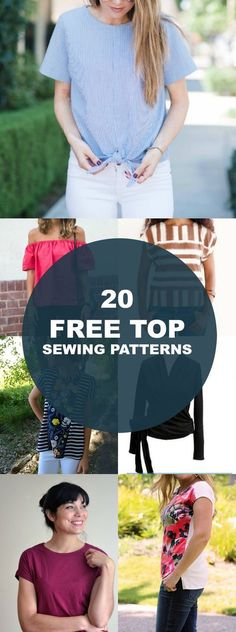 Free Sewing Patterns: 20 spring and summer tops and t-shirt tutorials: Get access to beautiful tops sewing patterns and tutorials. Learn more here-->
