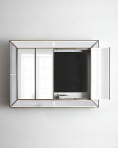 Murano Plasma Wall Cabinet by Bassett Mirror, Inc. at Neiman Marcus.
