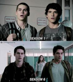 WOAH Scott got a major glow up, not that he needed one. Stiles looks basically the sam...
