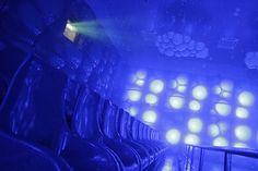 Waterplexx 5D // HD3D Projection, Motion SFX Seats, Backlit Wall Panels // © 2012 Kraftwerk Living Technologies // www.kraftwerk.at