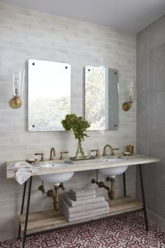 Style meets a rustic charm in this bathroom completed by @chownhardware. #luxePNW
