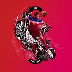 Nike Football: Risk Everything on Behance www.ilovedust.com