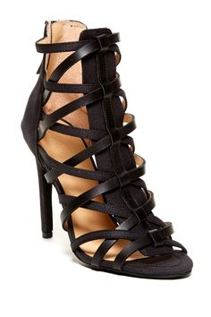 Strappy and seriously fierce heels.