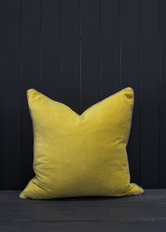 Large Velvet Cushions in Lime | Also Home #bravewithcolour