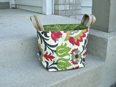 Love the rich green and Red shaggy Bucket by ShaggyBaggy on Etsy,